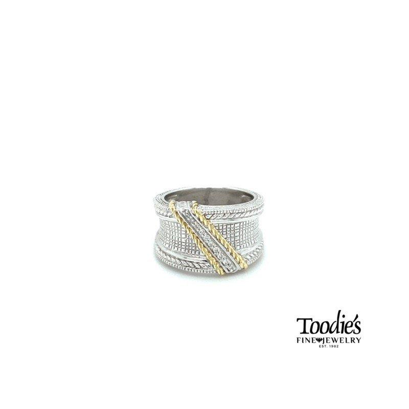 Toodie's Signature Fashion Judith Ripka Engraved Style Diamond Band