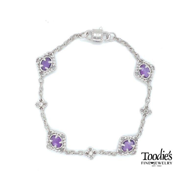 Gabriel Fashion Filigree Style Amethyst Bracelet