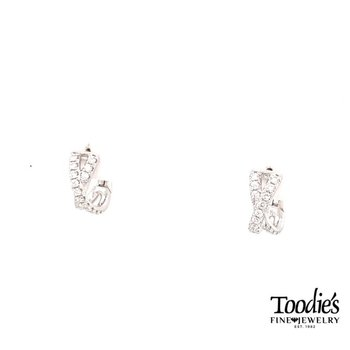 "Diamond ""X"" Earrings"