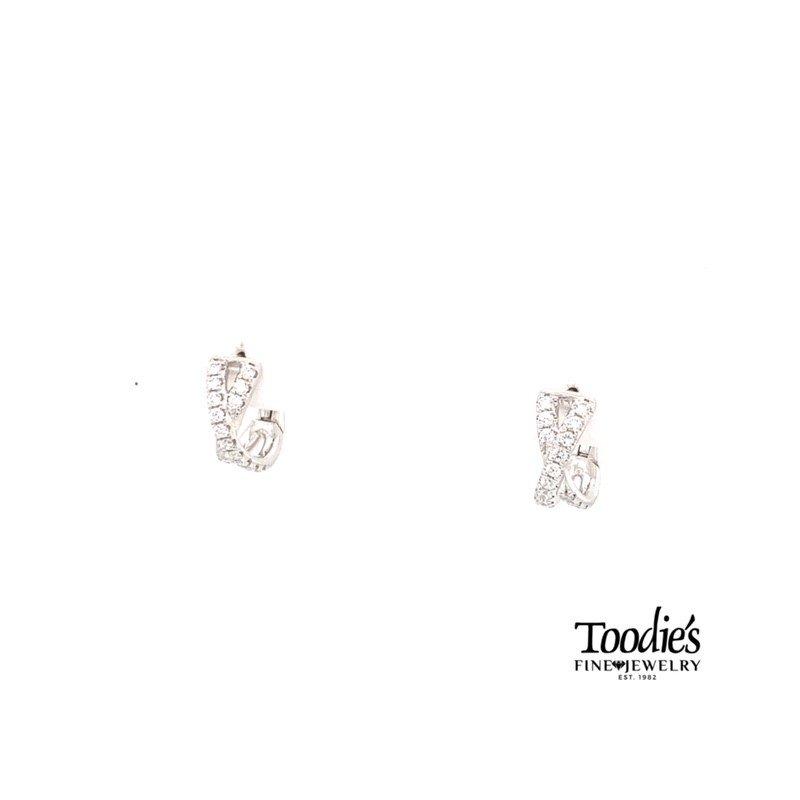 "Shy Creation Diamond ""X"" Earrings"