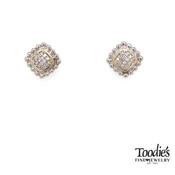 Diamond Cluster Studded Earrings