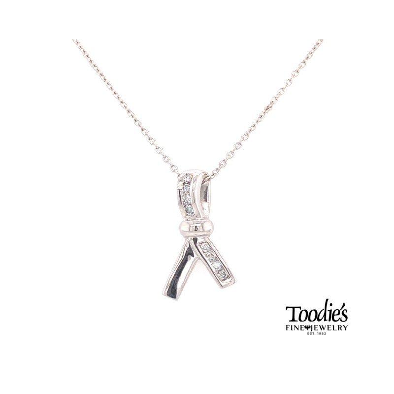 Toodie's Signature Fashion Diamond Breast Cancer Pendant