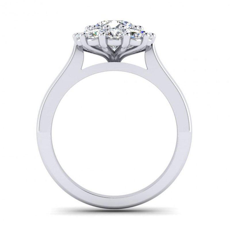 Toodie's Bridal Flowery Design Diamond Halo Engagement Ring