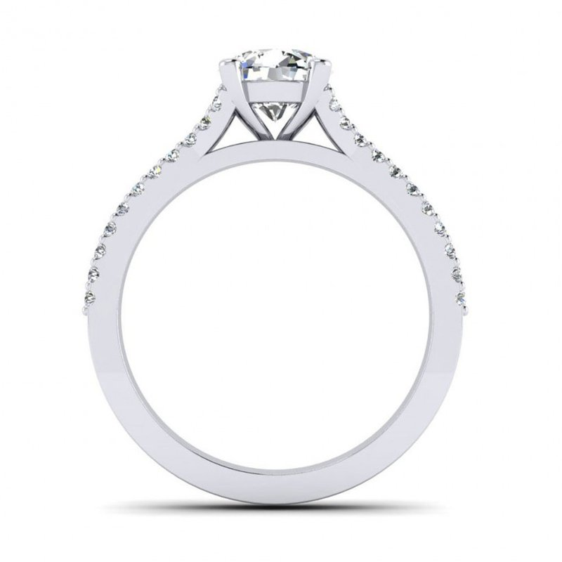 Toodie's Bridal Double Row Split Shank Design Diamond Engagement Ring