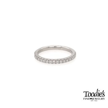 Platinum Straight Prong Set Diamond Band