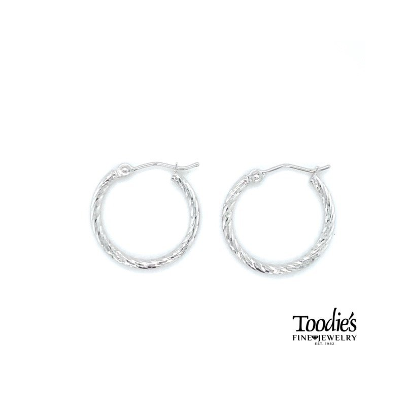 Toodie's Signature Fashion Diamond Cut Twisted Hoop Earrings