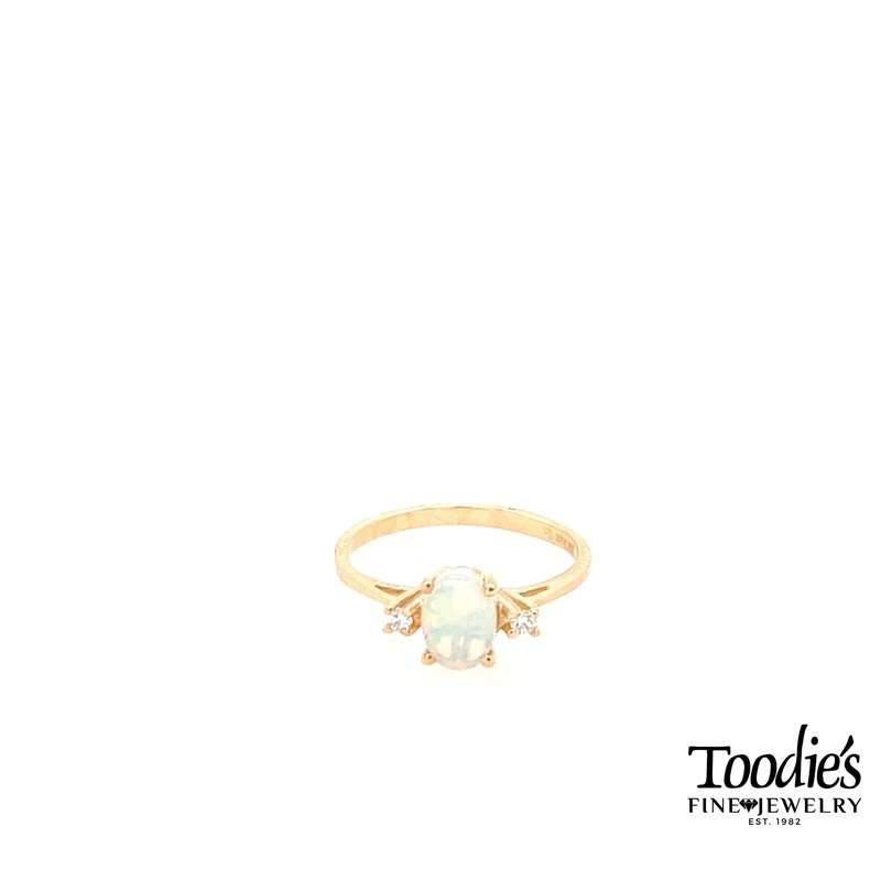 Toodie's Signature Fashion Opal and Diamond 3-Stone Ring