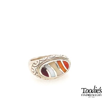 Rainbow Mother Of Pearl Ring