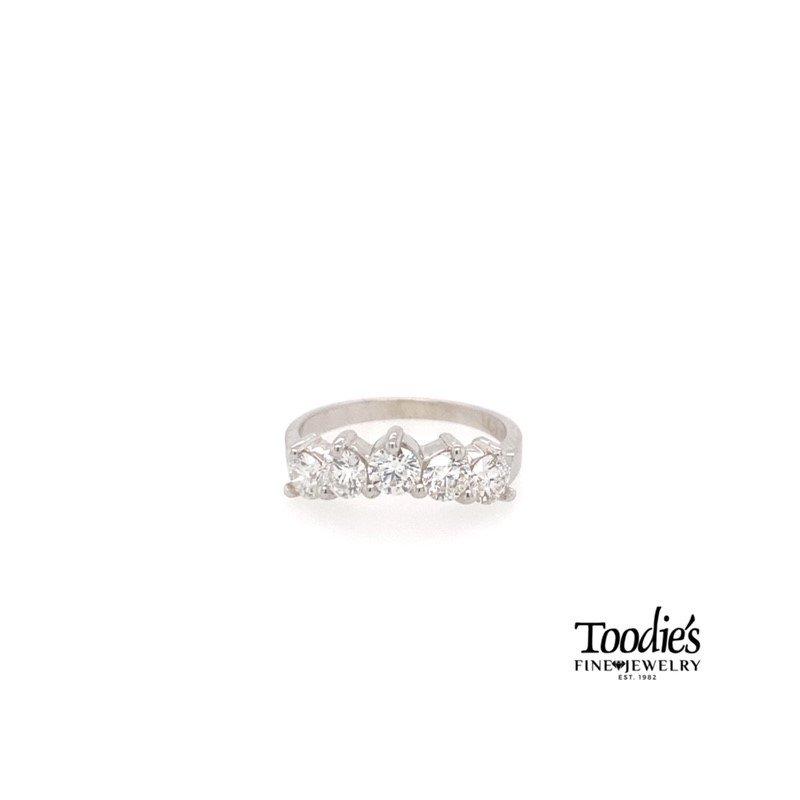 Toodie's Signature Fashion Five Stone Curved Diamond Band