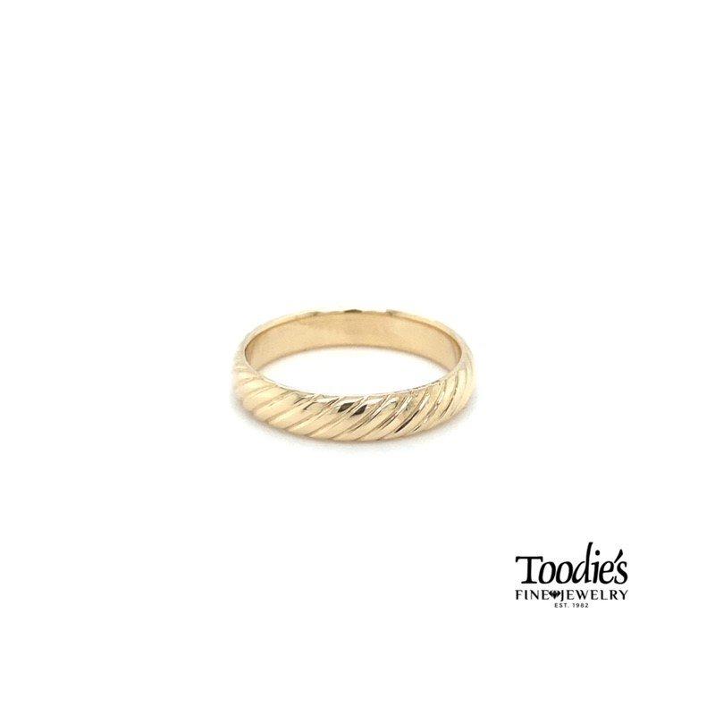 Toodie's Signature Fashion Rope Design Wedding Band
