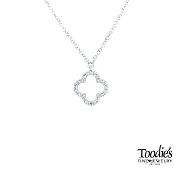 Mini Diamond Clover Pendant