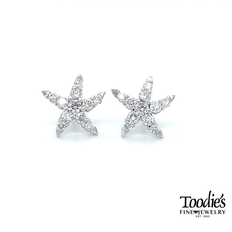 Toodie's Signature Fashion Diamond Starfish Studs