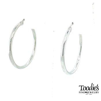 Steriling Silver Medium Hoop Earrings