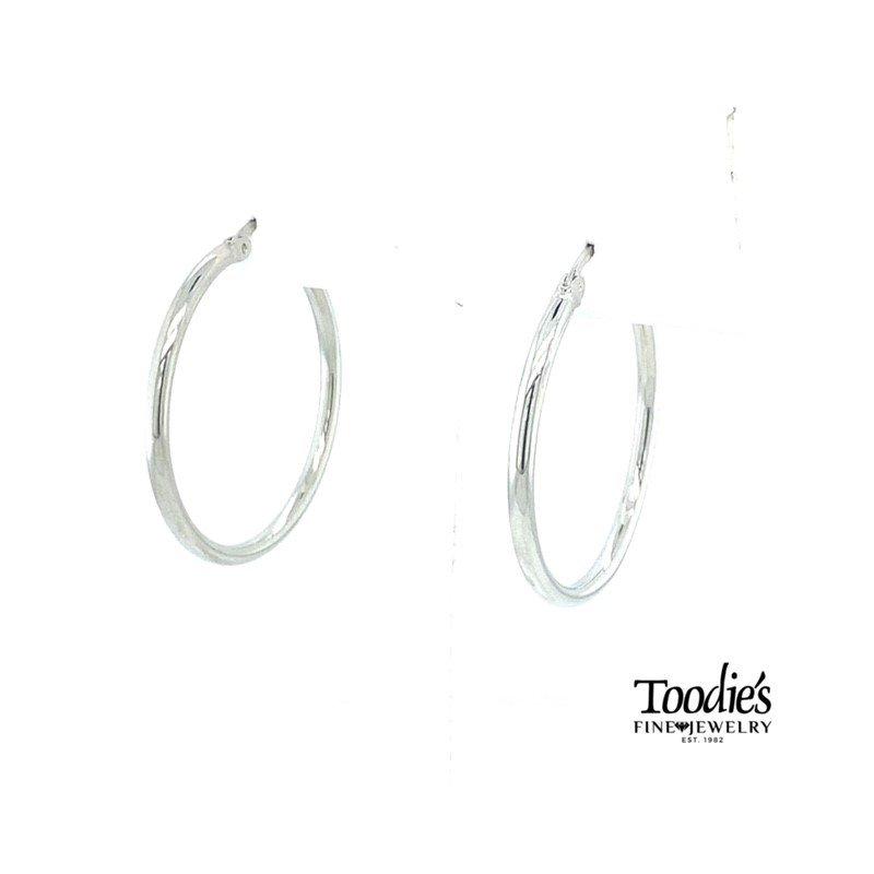 Toodie's Signature Fashion Steriling Silver Medium Hoop Earrings