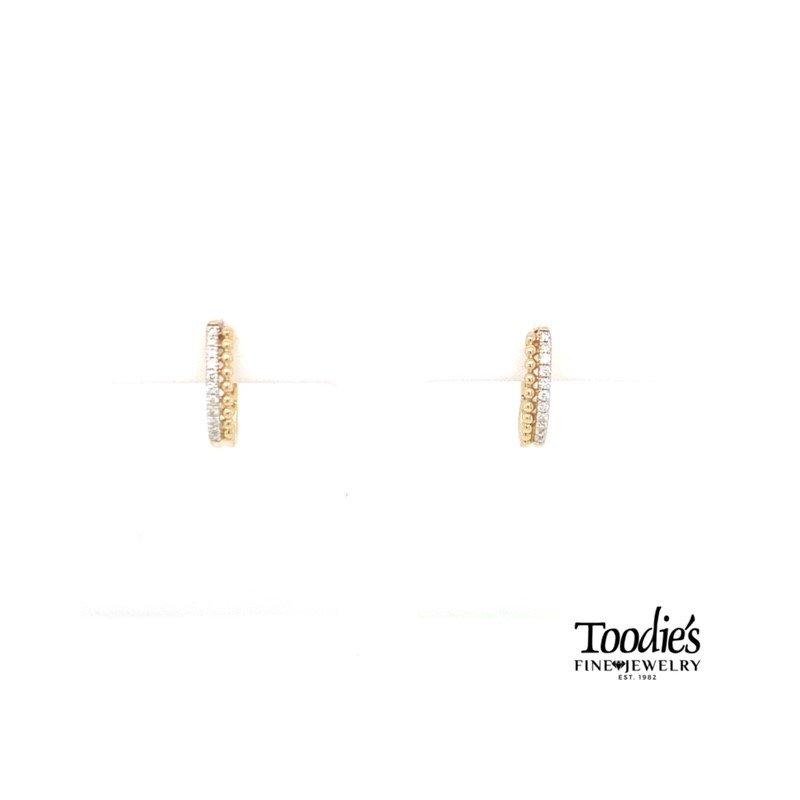 Gabriel Fashion Diamond Beaded Pave Earrings