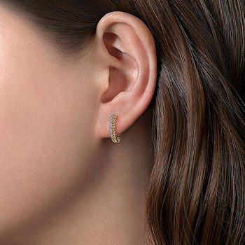 Diamond Beaded Pave Earrings
