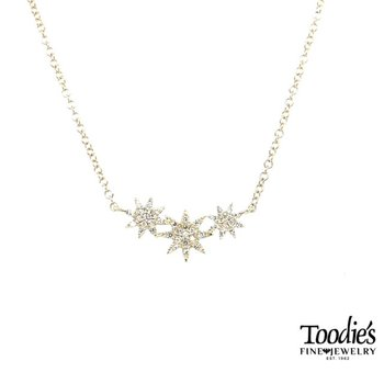 Triple Star Diamond Necklace
