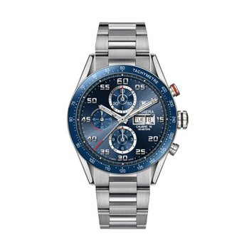 Carrera Automatic Chronograph Watch with Blue Dial