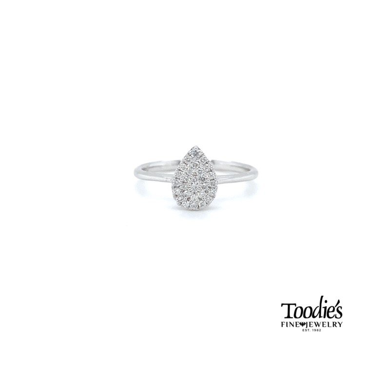 Toodie's Signature Fashion Pear Shaped Diamond Cluster Ring