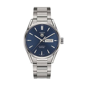 Carrera Automatic Day-Date Watch with Blue Dial