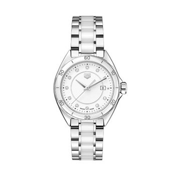 Formular 1 Watch in White Ceramic with Diamond Dial