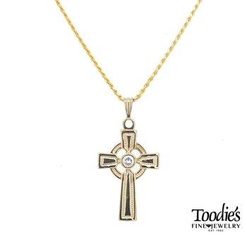 Diamond Celtic Cross and Chain