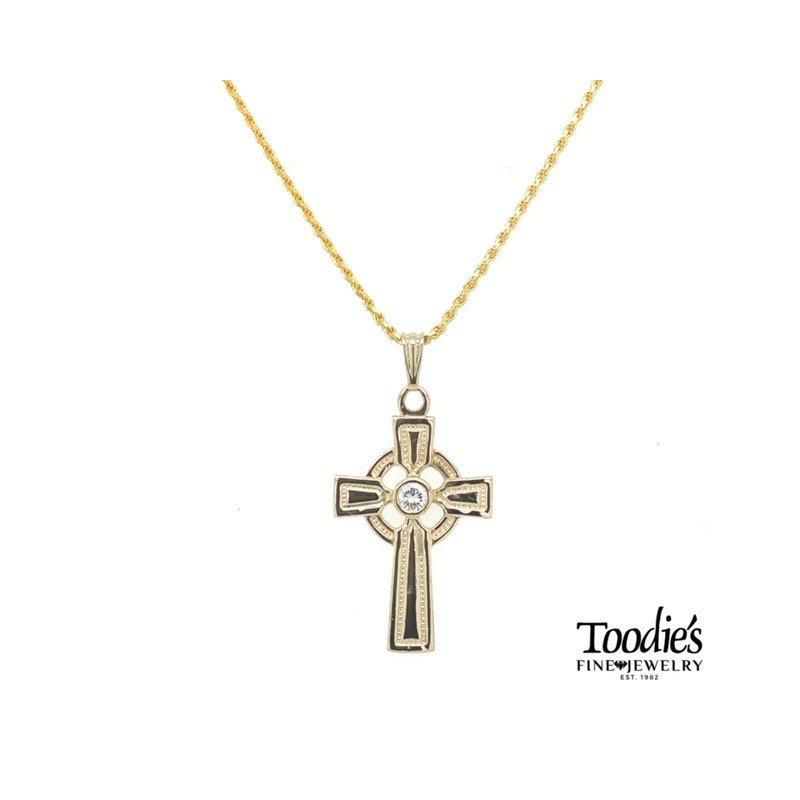 Toodie's Signature Fashion Diamond Celtic Cross and Chain