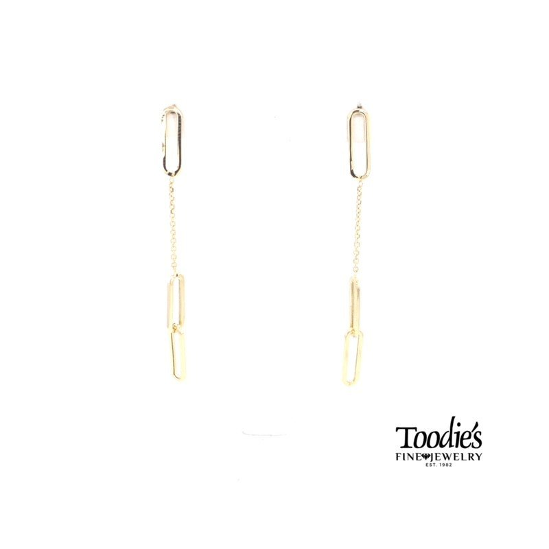 Toodie's Signature Fashion Paper Clip Drop Studded Earrings