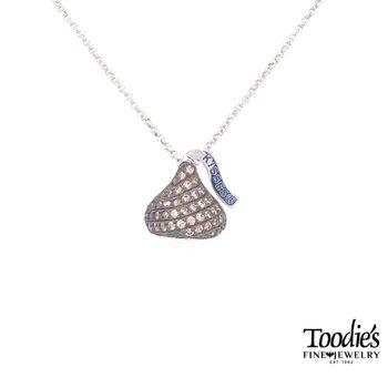 Hershey's Kiss Brown Cubic Zirconia Necklace