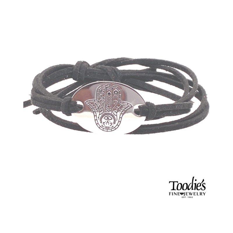 Toodie's Signature Fashion Hamasa Suede Bracelet