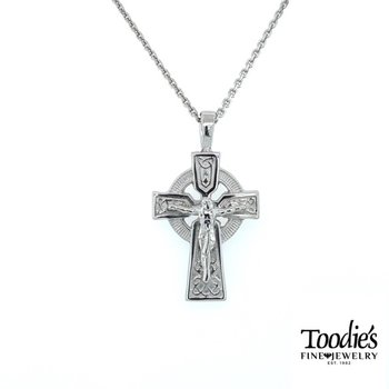 Medium Size Celtic Crucifix Necklace