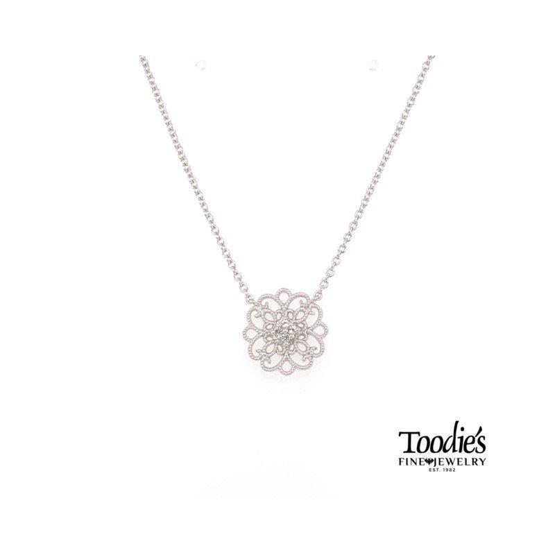 Gabriel Fashion Vintage Inspired White Sapphire Necklace