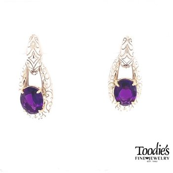 Double Drop Amethyst Earrings