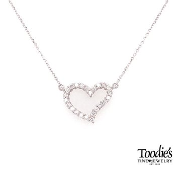 Funky Open Diamond Heat Necklace
