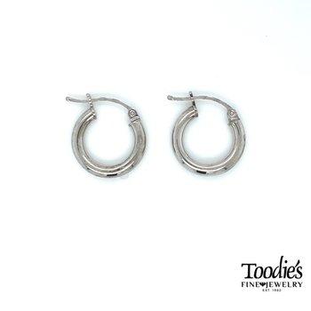 Sterling Silver 2mm Wide Round Hoop Earrings