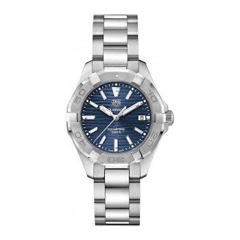 Mid-size Aquaracer Watch with Navy Blue Dial