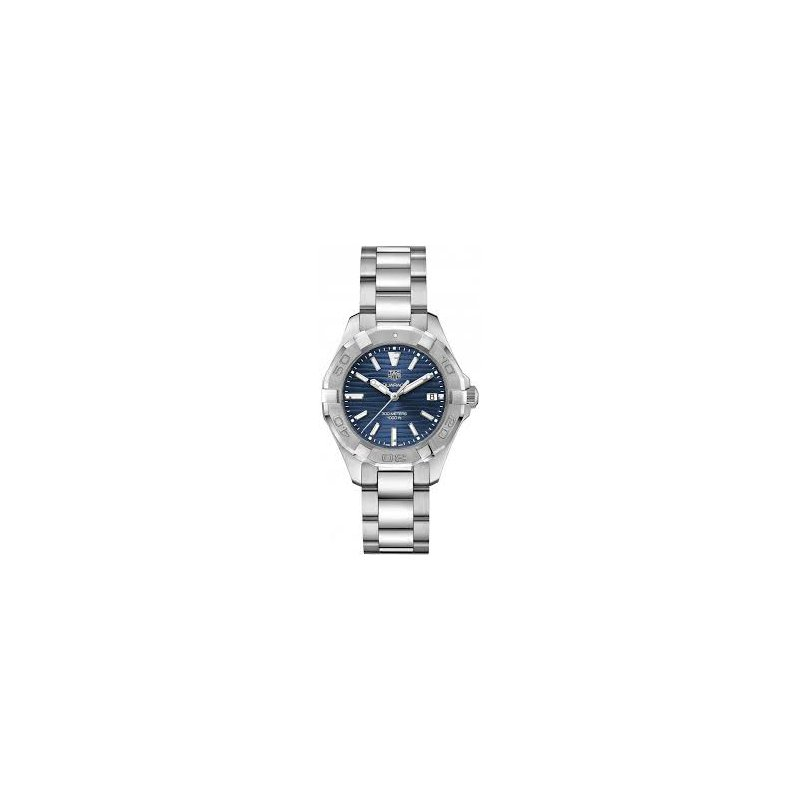 TAG Heuer Mid-size Aquaracer Watch with Navy Blue Dial