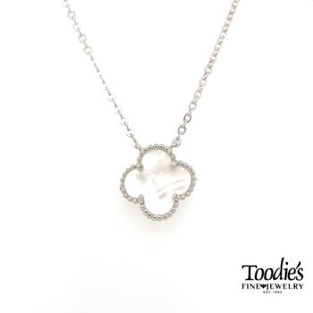 Designer Inspired Mother of Pearl Clover Pendant