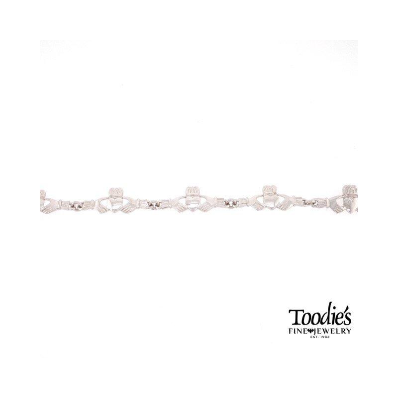 Toodie's Signature Fashion White Gold Claddaugh Bracelet