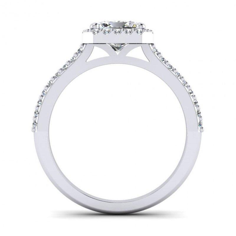 Toodie's Bridal Princess Cut Diamond Halo Engagement Ring
