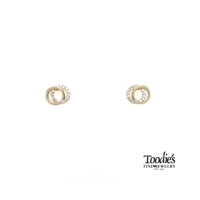 Shy Creation Diamond Love Knot Earrings