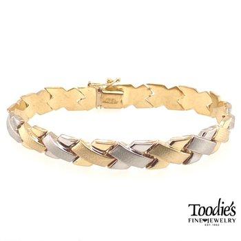 Gold Two Tone Bracelet