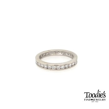 White Gold Diamond Channel Set Eternity Band