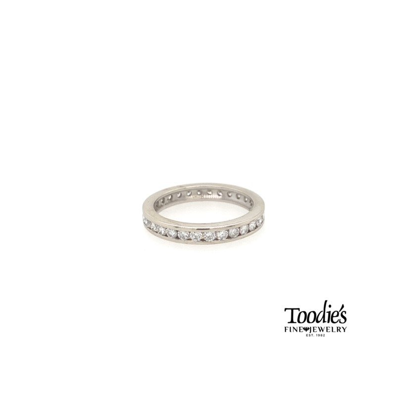 Toodie's Signature Fashion White Gold Diamond Channel Set Eternity Band