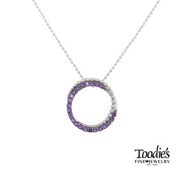 Amethyst Circle Necklace