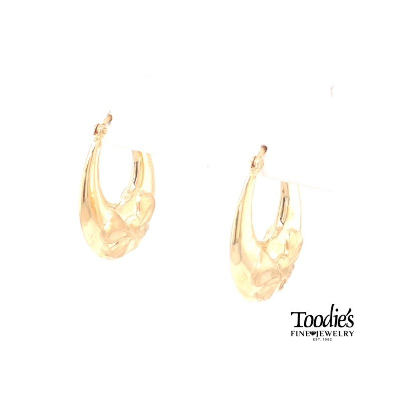 Toodie's Signature Fashion Ribbon Oval Hoop Earrings