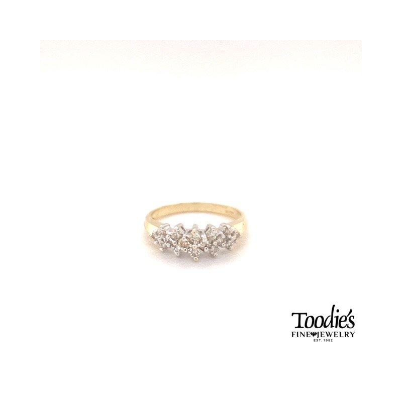Toodie's Signature Fashion Vintage Diamond Pyramid Cluster Ring