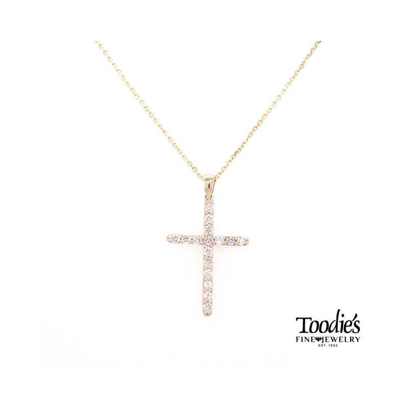 Toodie's Signature Fashion Classic Gold Diamond Cross