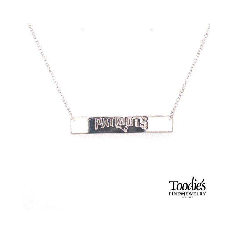 Toodie's Signature Fashion New England Patriot Bar Necklace