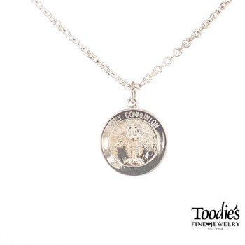 Holy Communion Medallion Necklace